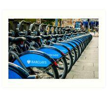 Bicycles London England Art Print