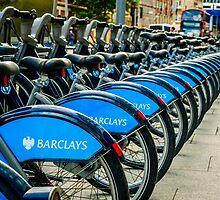 Bicycles London England by Mick Pennington