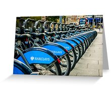 Bicycles London England Greeting Card