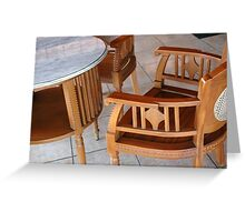 chair and table Greeting Card