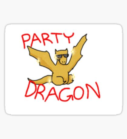 Smaug the Golden Party Dragon Sticker