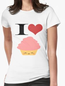 I <3 Cupcakes Womens Fitted T-Shirt