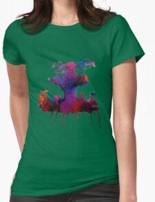 Gorillaz Plastic Beach Womens Fitted T-Shirt
