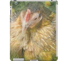 Sitting Hen in Dandelions iPad Case/Skin