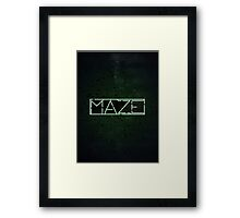 The Darkest Puzzle - The Maze Runner Framed Print