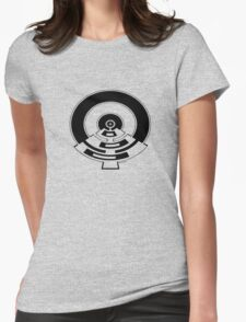 Mandala 23 Eight Ball Back In Black Womens Fitted T-Shirt