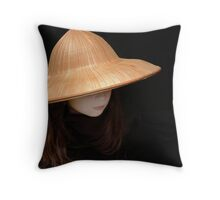 Chinese Hat Throw Pillow