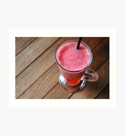 strawberry juice Art Print