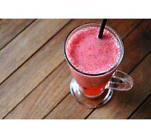 strawberry juice Photographic Print