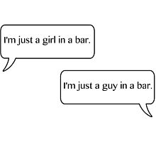 Just a girl and a guy in a bar. by cristinaandmer