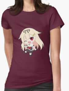 Yuudachi Chibi Womens Fitted T-Shirt