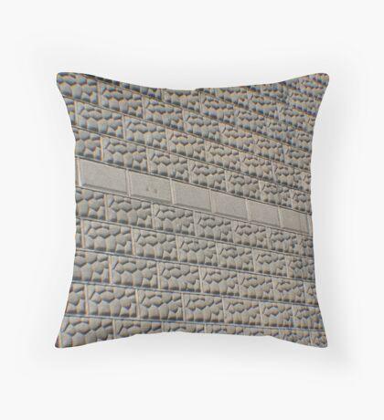 Wall of Stone Bricks Throw Pillow