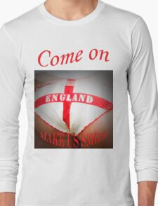Come On England - Make Us Smile Long Sleeve T-Shirt