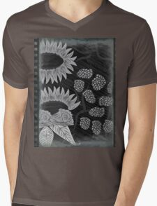 Vintage Floral Art Mens V-Neck T-Shirt