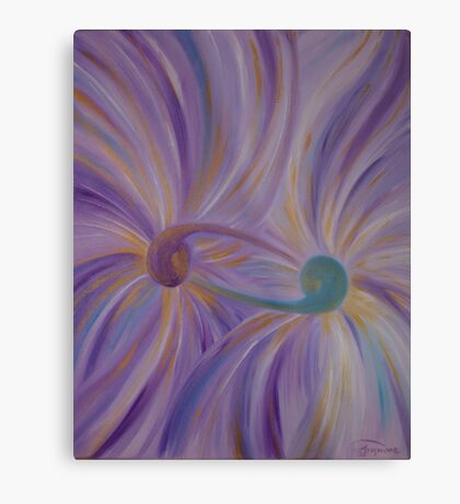 """Fine art. Abstract """"Twin flame"""". Oil painting Metal Print"""