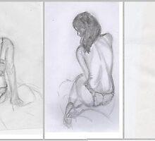 Line Drawing Strip Tease by Kyleacharisse