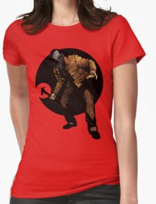el horror aguarda Womens Fitted T-Shirt