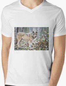 Timber Wolf Mens V-Neck T-Shirt