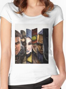 BOrderlands 2 Characters =2 Women's Fitted Scoop T-Shirt