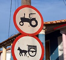 Hand painted road signs, Vinales, Cuba by buttonpresser