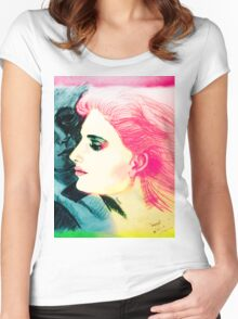 Silent Love Women's Fitted Scoop T-Shirt
