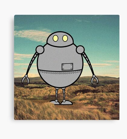 Robots need to run free Canvas Print