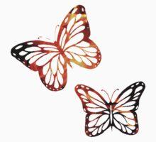 Burning Butterflies Kids Tee