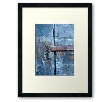 hinge on old war time fort Framed Print