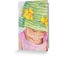 Girl in Big Hat Greeting Card