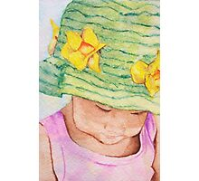Girl in Big Hat Photographic Print