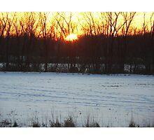 Beautiful sunset photo Photographic Print