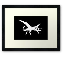 Ultimate Dinosaur (white design) Framed Print