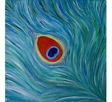 """Fine art. Abstract. Nature. """"Peacock feather"""" Acrylic painting. Photographic Print"""