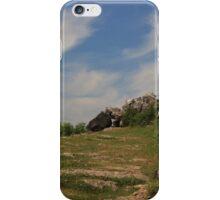 Cloudscape above Warton Crag iPhone Case/Skin