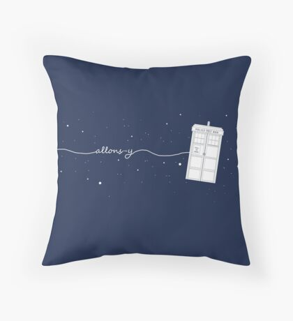 Allons-y Pillow! Throw Pillow