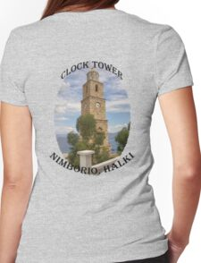 Halki Clock Tower Womens Fitted T-Shirt