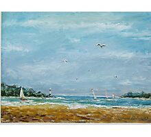 gulls surf and sails Photographic Print