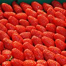 Tantalizing Strawberries at the Street Market by nadinecreates