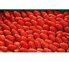 Tantalizing Strawberries at the Street Market Photographic Print