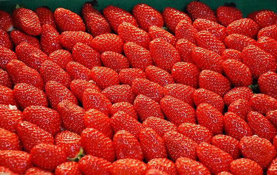 Tantalizing Strawberries at the Street Market by nadinecreates
