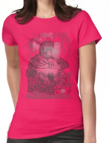 Jungle Gorilla and his Cat Womens Fitted T-Shirt