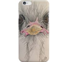 Goofy Angry Ostrich  iPhone Case/Skin