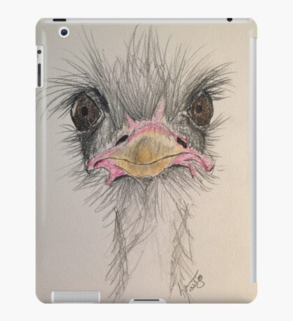 Goofy Angry Ostrich  iPad Case/Skin