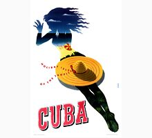Cuba Vintage Travel Poster Restored Unisex T-Shirt