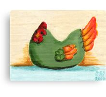 Ceramic Chicken Canvas Print