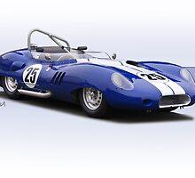 1959 Lister Costin Racecar by DaveKoontz