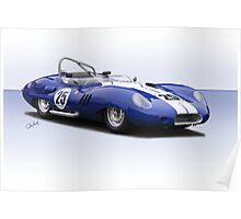 1959 Lister Costin Racecar Poster