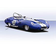 1959 Lister Costin Racecar Photographic Print