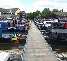 narrow boats moored at Etruria Marina Stoke on Trent by shawn50