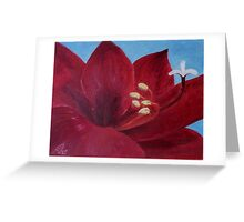 "Fine art. Painting. Oil. Flower ""Life PASSION"" Greeting Card"